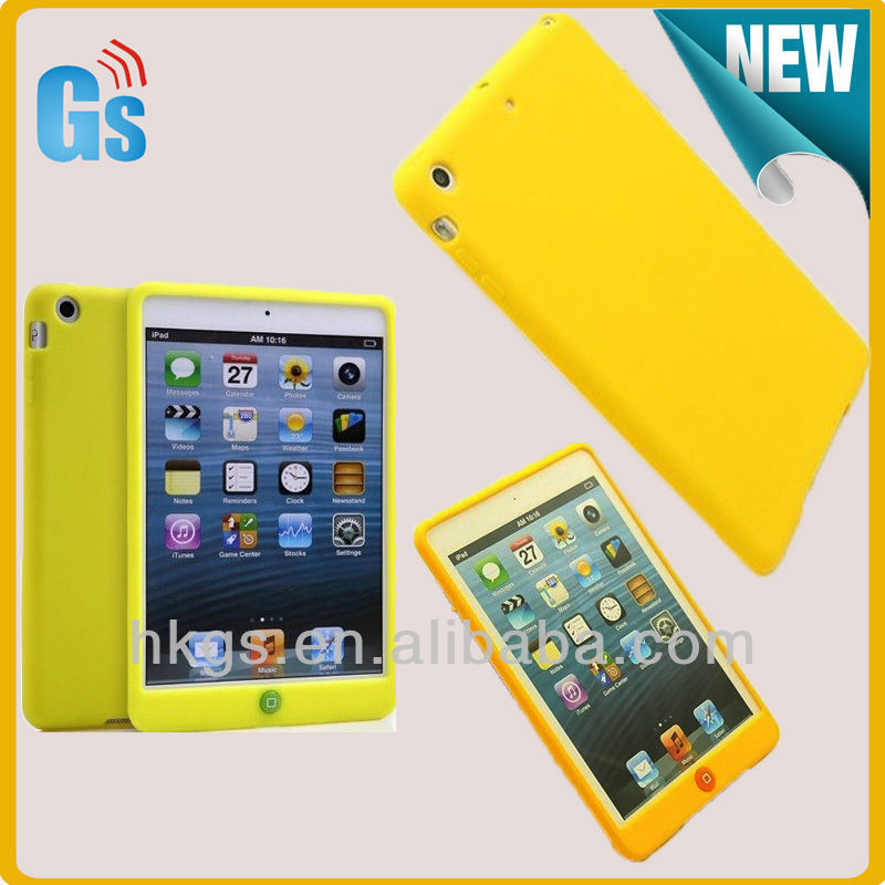 For Ipad Mini Case, Candy Color Silicon Soft Back Cover for Ipad Mini 2