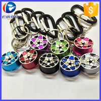 Mini Metal Hellaflush BBS Wheel Rim Keychain