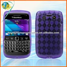 For Blackberry Bold/9790 clear purple TPU cell phone cover