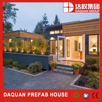 Easy installation holiday house luxury prefab villas with EPS sandwich panels from DQ China