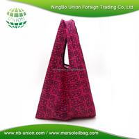 Factory customize new design 190T 210T polyester folding shopping bag