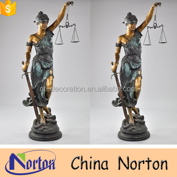 Western style self made bronze lady justice statue NTBH-S959A