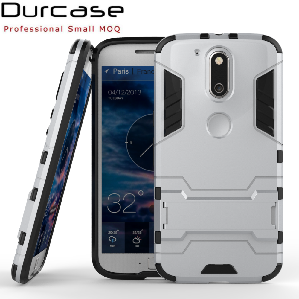 2017 Online Phone Case Store Mobile Accessories PC+TPU Kickstand Protect Cover Phone For MOTO G4 Plus
