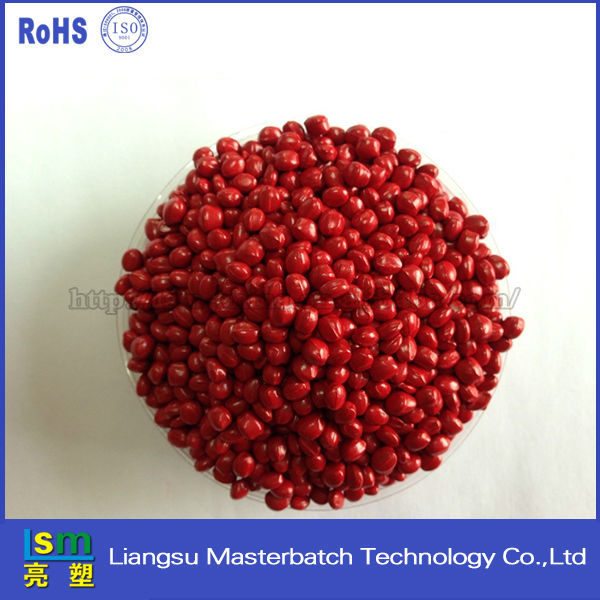 Red masterbatch plastics pellets free sample research chemical