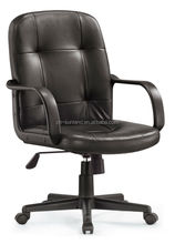 New Style Black Leather Durable Conference Room Chair with wheels