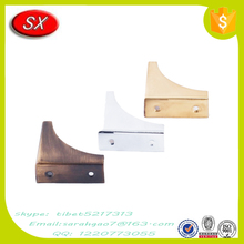 Custom made safety metal glass table bracket for the hinged table , table corner brackets