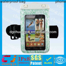 cheap armband waterproof cases for samsung galaxy note with IPX8 certificate