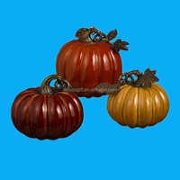 custom color glazed artificial ceramic pumpkins for sale