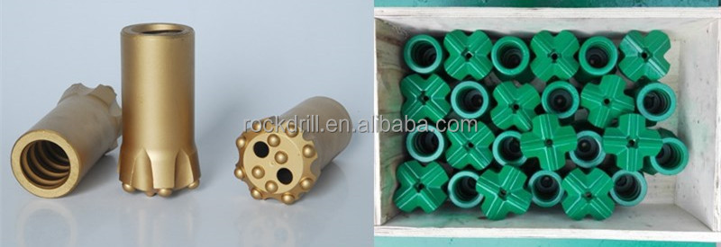 R25 R32 T38 T45 Tungsten Carbide Drill Bits Thread Button Bits