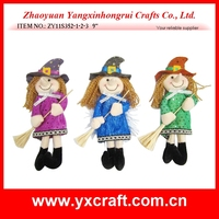 Halloween decoration (ZY11S352-1-2-3 9'') halloween witch with broom decoration, halloween italy witch gift item, halloween item