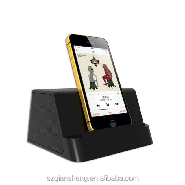 Digital Music Sound Dock Portable Phone Docking Station with Clock and Speaker Bluetooth