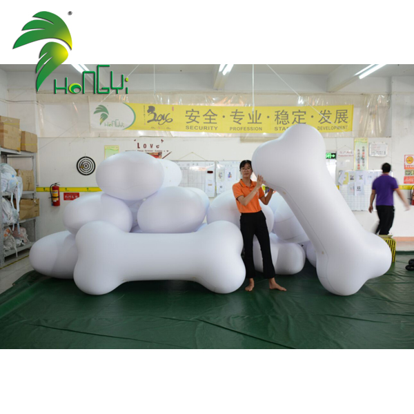 Custom Air White Dog Bone Model Giant Inflatable Bones for Display