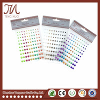 Colorful Diamond&Pearl Rhinestone Sticker Sheet