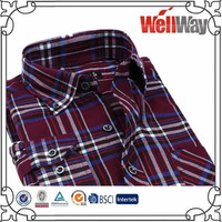 2016 latest Spring Casual Plaid Shirts Long Sleeve Brushed flannel checked shirts design M-XL Dress