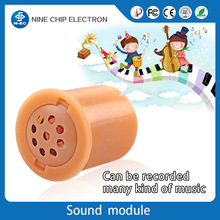 Recordable voice box christmas music buttons for plush toys