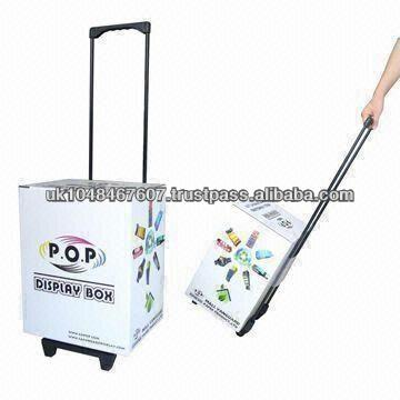 Folding Flatpack Cardboard Shopping Trolley with Wheels