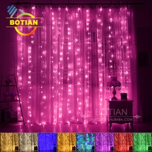 Cheap decorative snowfall waterproof indoor curtain led light for wedding decoration