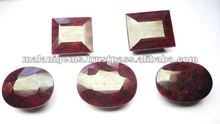 Natural Dyed Red Ruby Square Facet Cut Gemstone