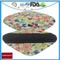 Charcoal Bamboo Cloth Pads Floral XL,L Size