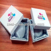 Hat box with Lid With Logo UV coating Silver Stain Cloth Inner Tray For Bracelet Packing