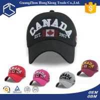 Custom high quality 3D embroidered baseball caps canada