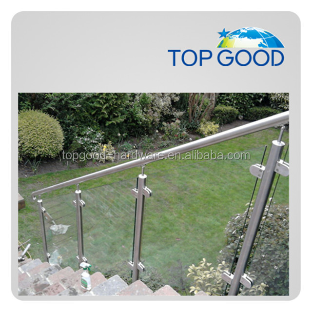 304/316 stainless steel railings concrete stairs