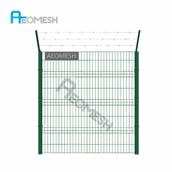 hot sale high quality black welded wire fence mesh panel (ISO 9001 factory)