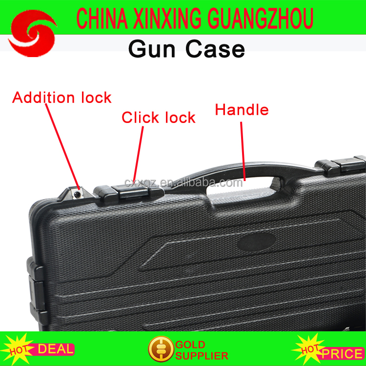 Gun Case Storage Waterproof Safety Lockable Hard Shell gun case