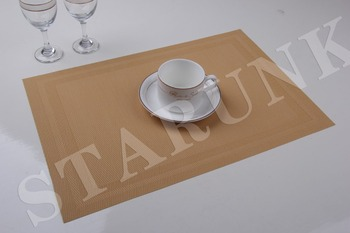 New fashion pvc polyester food serving placemats