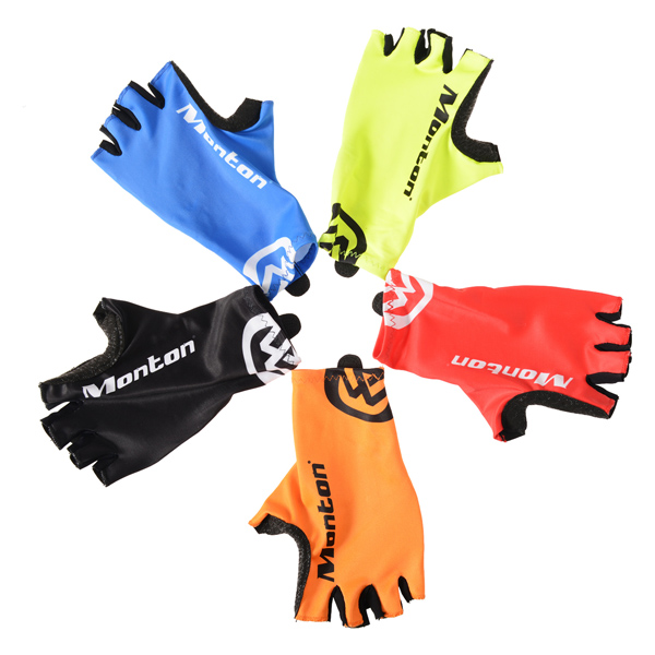 Monton hot sell Custom outdoor sports bike riding half finger gloves for <strong>cycling</strong>