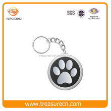 Custom Cute Dog Paw Shape Casting Cheap Wholesale Metal Keychain