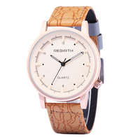 Luxury Lovers Leather Strap Large Size Dial Quartz Watch With Japan Movement Water Resistant Cheap Ladies Watches RE021