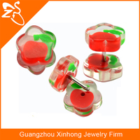 2014 Fashion colorful stainless stud earing