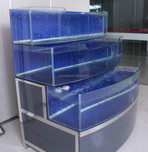 Dingfeng customized 3 layer temperature control chiller or heater supermarket or restaurant fish tank aquarium