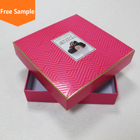 Elegant luxury cardboard chocolate box/paper gift packaging with lid