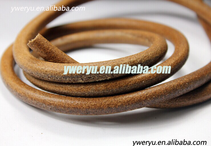 8mm Round Natural Real Leather Cord