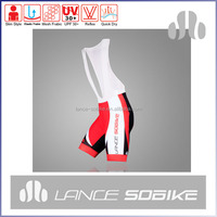 2015 Lance sobike custom design your own polyester/spandex cycling bib shorts