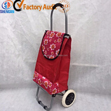 practical colorful foldable shopping cart with wheel