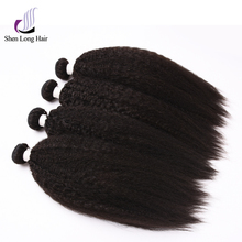 Factory wholesale grade 4a hair kinky straight natural color virgin remy cuticle human hair for black women