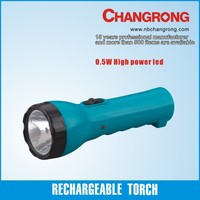 long distance low price rechargeable 0.5W led flashlight
