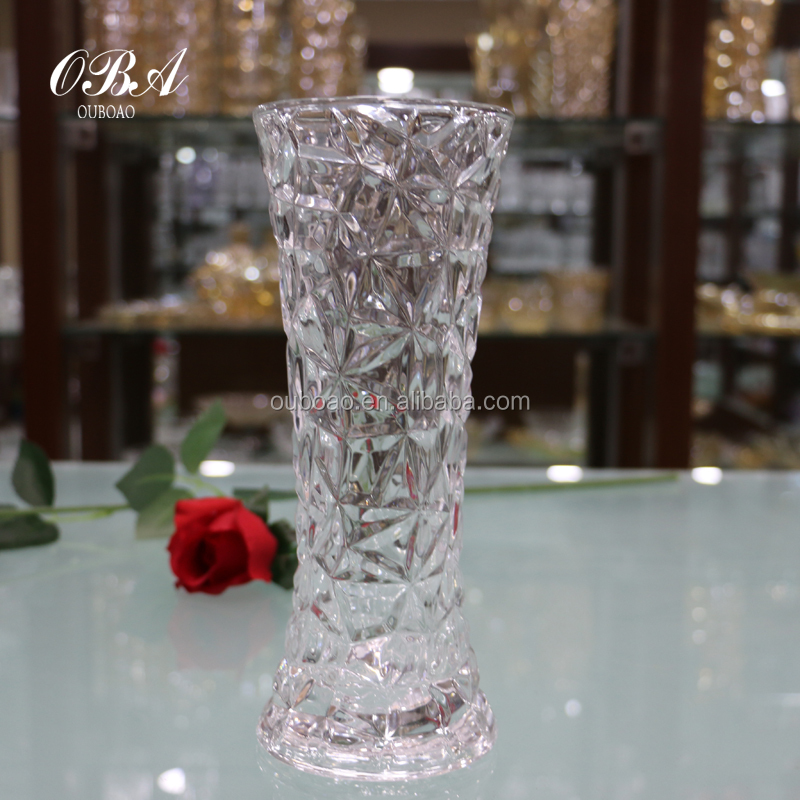 Wholesale tall centerpiece vase cheap glass long