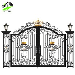 Australia standard stainless steel main gates wrought iron door