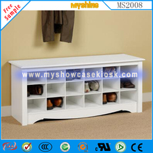 hot sale clear wooden shoe display case commercial furniture