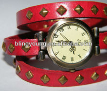 BY High quality China supplier ladies big dial leather watch