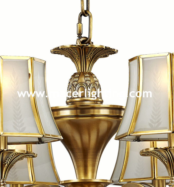 New product Fancy modern brass chandeliers
