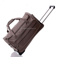 Women Waterproof Polyester Travel Trolley Bag Men Rolling Duffle Bag with Wheels