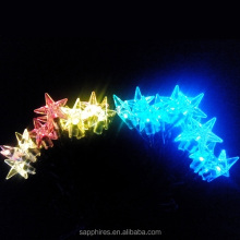 20L colored led solar christmas star string lights