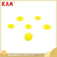 Fashion color plastic snap push button for shirts and clothes