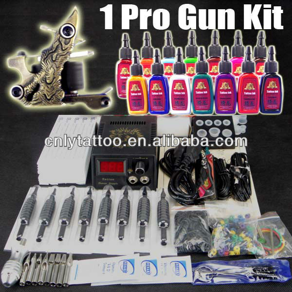 Cheap Beginner tattoo supply 2 guns tattoo kits