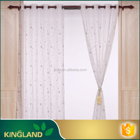 Polyester voile manufacturered ready made window curtain